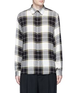 Public School | Trin Detachable Patch Check Plaid Shirt