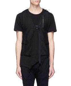 The Viridi-Anne | Linen Hopsack Backpack Vest