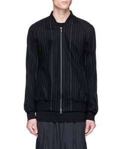 Devoa | Chalk Stripe Bomber Jacket