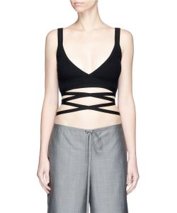 Alexander Wang | Ribbed Knit Wrap Bra