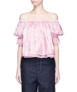 Angel Chen | Charmeuse Off-Shoulder Top