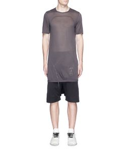 Rick Owens DRKSHDW | Curved Seam Sheer T-Shirt