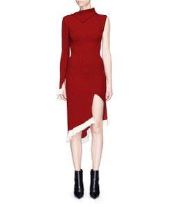 Esteban Cortazar   Asymmetric Ruffle Hem One-Sleeve Dress