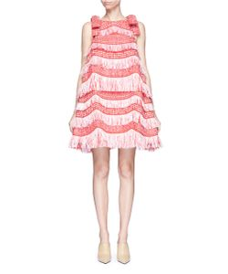 Angel Chen | Detachable Bow Fringe Raffia Dress
