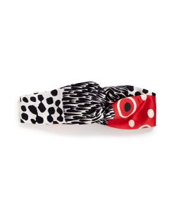 Pierre-Louis Mascia | Evo Mixed Print Knotted Satin Headband