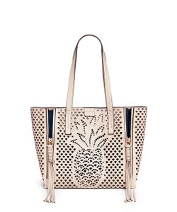 Chloé | Milo Medium Embossed Perforated Leather Tote