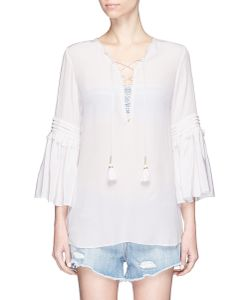 Figue | Poet Lace-Up Silk Blouse