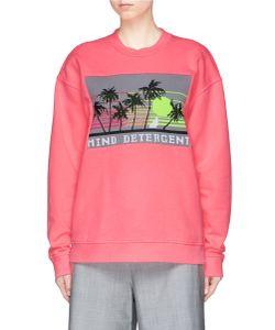 Alexander Wang | Mind Detergent Knit Patch Oversized Sweatshirt