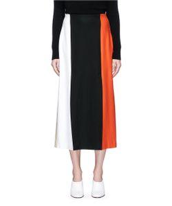 Rosetta Getty | Colourblock Double Vent Ponte Knit Skirt