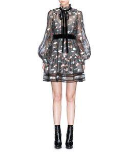 Marc Jacobs | Licorice Lamé Fil Coupé Balloon Sleeve Organza Dress