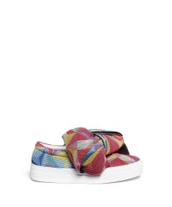Joshua Sanders | Twist Bow Mesh Slip-On Sneakers