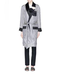 Lanvin | Rosette Stripe Satin Pyjama Jacket