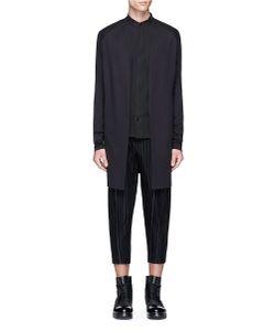 Devoa | Padded Shoulder Open Front Jersey Cardigan