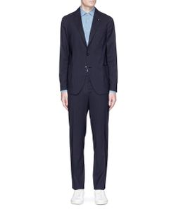 Lardini | Easy Wear Packable Check Wool Travel Suit