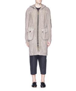 Ziggy Chen | Vest Overlay Hooded Parka