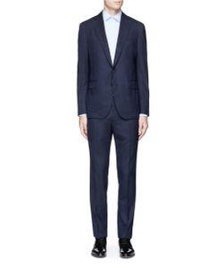 Lardini | Patchwork Jacquard Wool Suit