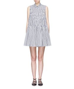 Jourden | Stripe Tiered Cotton Poplin Shirt Dress