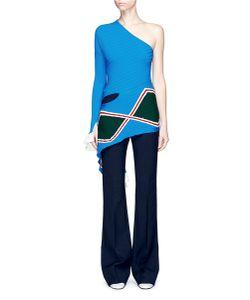 Esteban Cortazar | Asymmetric Rhombus Motif One-Shoulder Sweater