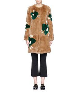 Yves Salomon | Print Rex Rabbit Fur Coat
