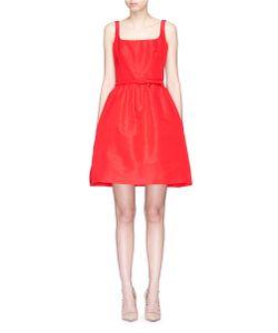 Oscar de la Renta | Belted Silk Faille Flared Dress