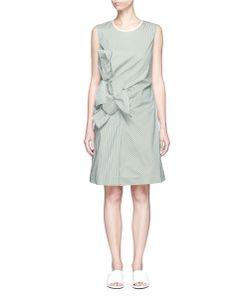 Victoria, Victoria Beckham | Double Knot Front Stripe Poplin Dress