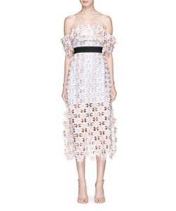 Self-Portrait | 3d Lace Off-Shoulder Midi Dress