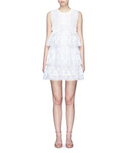 Giamba | Guipure Lace Ruffle Tiered Dress