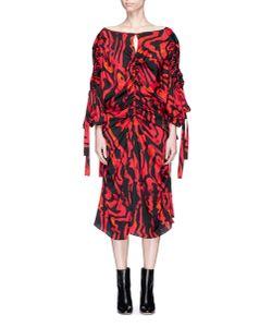 Ellery | Kabukimono Squiggle Print Cold Shoulder Silk Dress