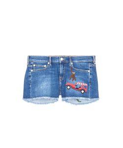 Mira Mikati | Rainforest Embroidered Denim Shorts