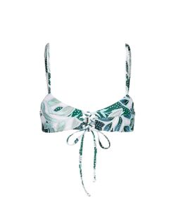 Mara Hoffman | Sea Tree Print Lace-Up Cami Bikini Top