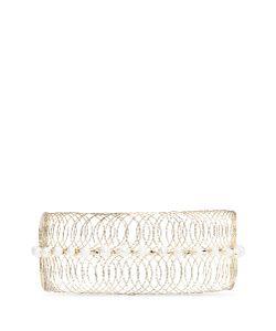 Rosantica | Big Bang Faux Pearl Metal Wire Cuff Choker