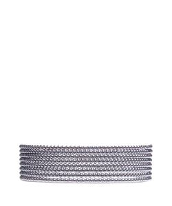 Kenneth Jay Lane | Tie Glass Pearl Collar Necklace