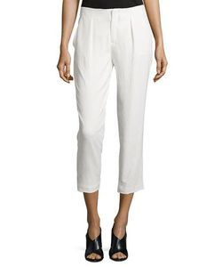 Haute Hippie | Pleated-Front Cropped Pants