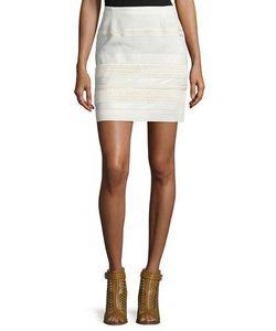 Belstaff | Lace Skirt W/Leather Trim