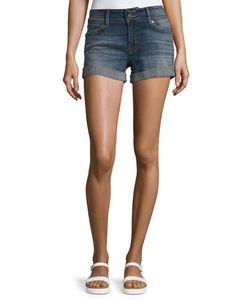 Hudson | Ruby Rolled-Cuff Denim Shorts