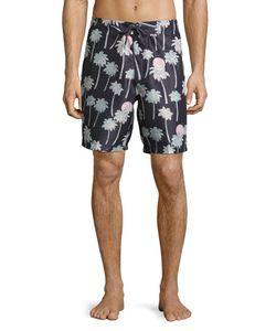 WeSC   Zander Palm Tree-Print Swim Trunks