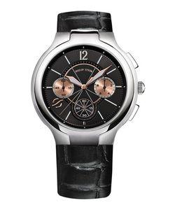 Philip Stein   45mm Chronograph Watch W Calfskin Strap