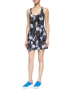 Thakoon Addition | Floral-Print Front-Zip Dress