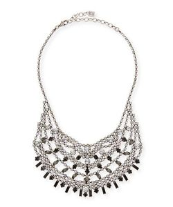 Dannijo | Steinem Jet Crystal Bib Necklace
