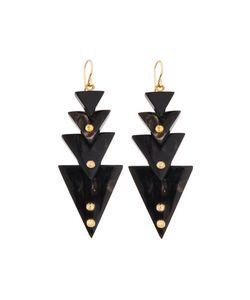 Ashley Pittman | Multi-Tier Triangle Dark Horn Drop Earrings