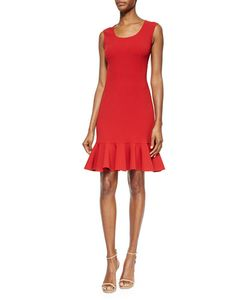 Michael Kors Collection | Scoop-Neck Flounce-Hem Dress