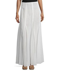 Michael Kors Collection | Semisheer Linen Maxi Skirt