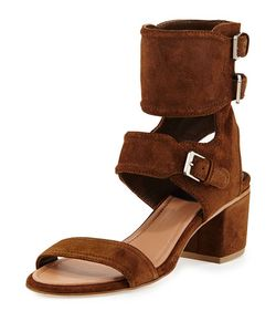 Laurence Dacade | Suede Ankle Cuff Sandal
