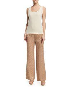 Donna Karan | High-Waist Wide-Leg Pants