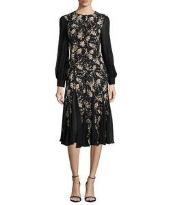 Michael Kors Collection | Long-Sleeve Combo Dress
