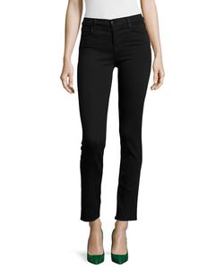 J Brand Jeans | Maria Mid-Rise Straight-Leg Jeans Seriously Black