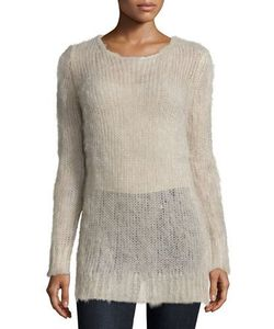 Michael Kors Collection | Long-Sleeve Slim-Fit Sweater Oatmeal Melange