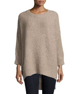 Michael Kors Collection | Long-Sleeve Basket-Weave Sweater