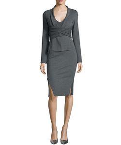 Donna Karan | Draped Crisscross Knit Jacket