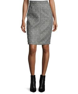 Adam Lippes | Pearly Studded Pencil Skirt